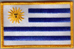 Uruguay Embroidered Flag Patch, style 08.